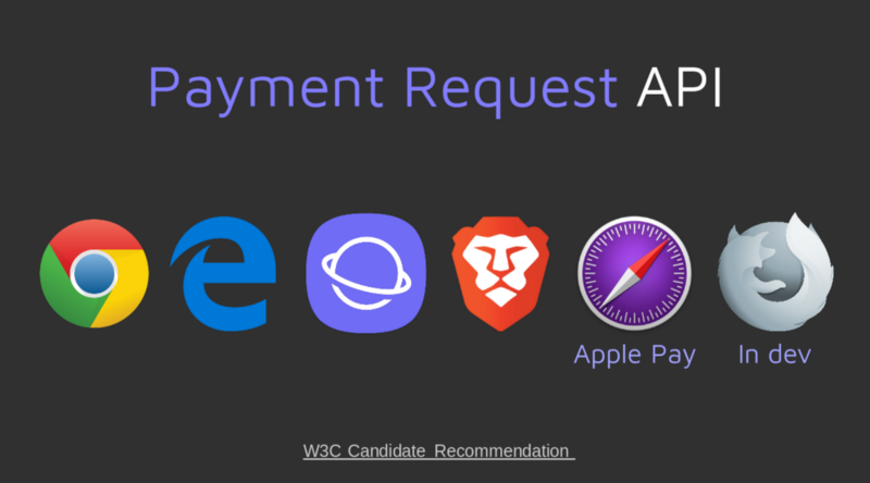 Payment Request browser support - Firefox, Edge, Samsung Internet, Brave...